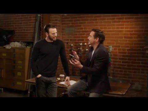 Chris Evans & Robert Downey Jr - Try to Make Stan Lee Choose a Side