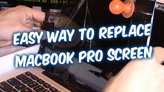 HOW TO REMOVE AND REPLACEMENT MACBOOK PRO SCREEN FIX