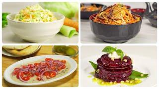 Четыре очень вкусных салата, которые вас удивят. Рецепты от Всегда Вкусно!