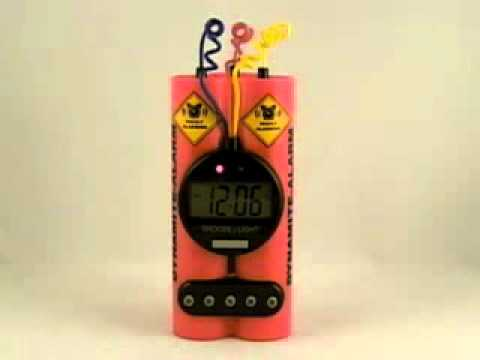 Dynamite Alarm Clock   Gadgets