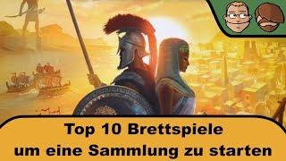 Top 10 Brettspiele um eine Sammlung zu starten
