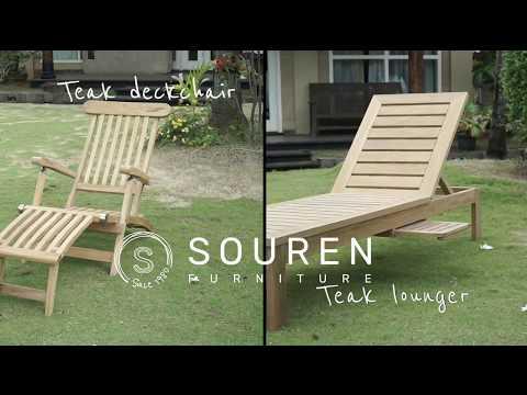 Teak Deckchair + Teak Lounger