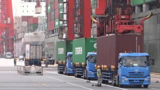 ガントリークレーンの作業を撮影してみた Gantry Crane Working In Tokyo