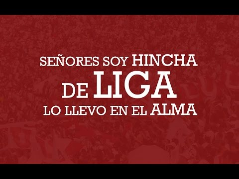 """""""Señores soy hincha de Liga lo llevo en el alma"""" Barra: Muerte Blanca • Club: LDU"""