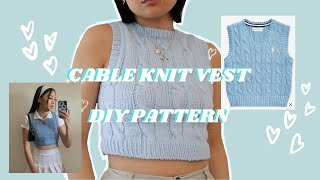cable knit pullover sweater | diy pattern