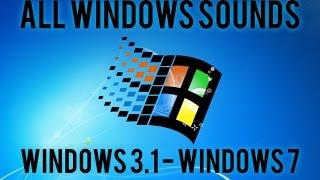 All Windows Sounds | Windows 3.1 - Windows 7