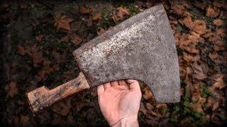 Knifemaker Restore Antique Bone Cleaver