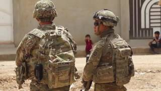 US Soldiers on the streets of Mosul, Iraq, May 2017