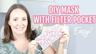 HOW TO SEW A MEDICAL FACE MASK WITH FILTER POCKET \ DIY FACE MASK TUTORIAL FOR HOSPITALS