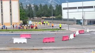 preview picture of video 'I SLALOM CIUDAD DE SABIÑÁNIGO (CAMPEONATO DE ARAGÓN) - DAVID LARDIES ÚLTIMA MANGA'