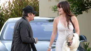 Al Pacino Looking Short Next To Sexy Girlfriend Lucila Sola In Malibu