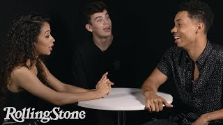 Hulus Freakish Roundtable:  Liza Koshy, Hayes Grier, Melvin Gregg