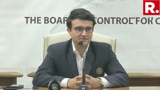 Sourav Ganguly Addresses Media Briefing After Taking Charge As New BCCI President