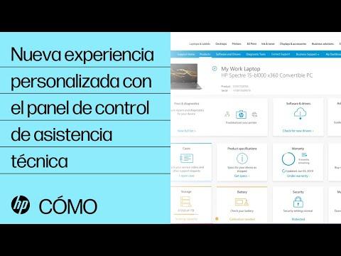 Experiencia personalizada en el Panel de control de Soporte de HP