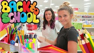 BACK TO SCHOOL SHOPPING WITH EMMA AND ELLIE! SCHOOL SUPPLIES HAUL! - Video Youtube