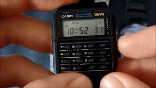 How to set time and date on a Casio CA-53 calculator watch