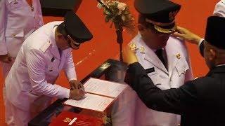 Gubernur Sumsel Lantik Dodi & Beni Menjadi Bupati Muba