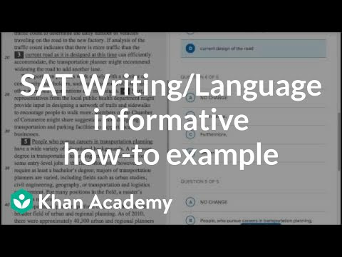 Writing Informative \u2014 How-to example (video) Khan Academy