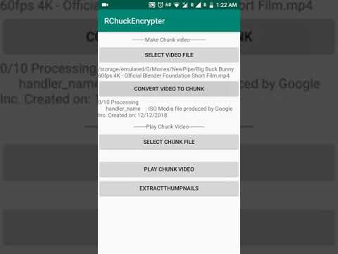 Video Chunk Encryption for Android