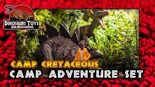 """Jurassic World """"Neue Abenteuer"""" Camp Adventure Set von Mattel  Review Deutsch / German"""
