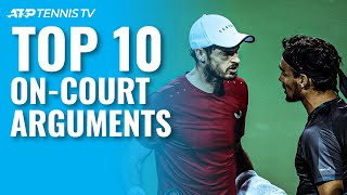 Top 10 On-Court ATP Tennis Arguments!