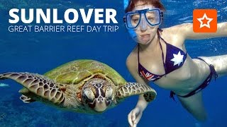 The Sunlover Cruises Outer Barrier Reef day trip to Moore Reef.