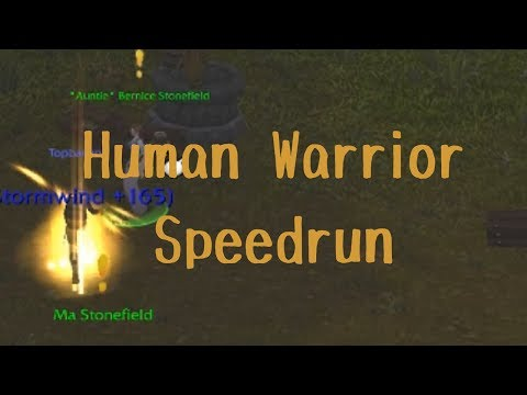 Human Warrior Speedrun 1-11 Elwynn Forest (Vanilla / Classic WoW)