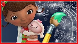 Docs McStuffins Color Play 3D Christmas Coloring Fix Lambie