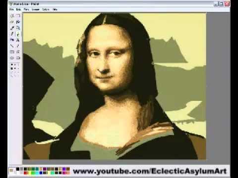 Vẽ Mona Lisa bằng Paint . Bá đạo quá !
