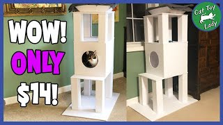 Easy Simple DIY Cat Tree, Only $14 To Make