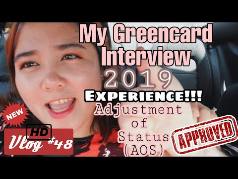 MY GREENCARD INTERVIEW EXPERIENCE 2019 | Adjustment of Status ( AOS ) Form I-485 | K1 visa Entry