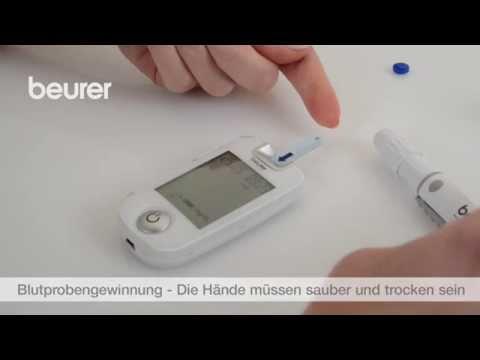 Quick Start Video des Blutzuckermessgeräts GL 40 von Beurer