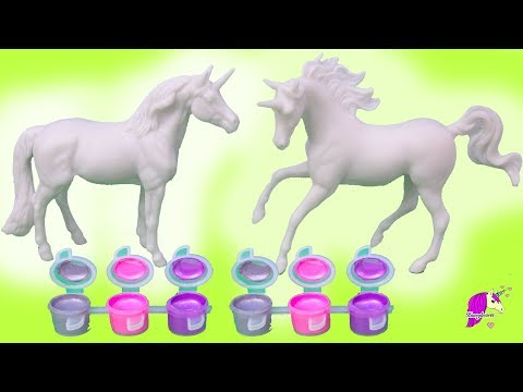 DIY Custom Unicorn Horses ! Super Easy My Dream Horse Paint Craft + Nail Polish 1