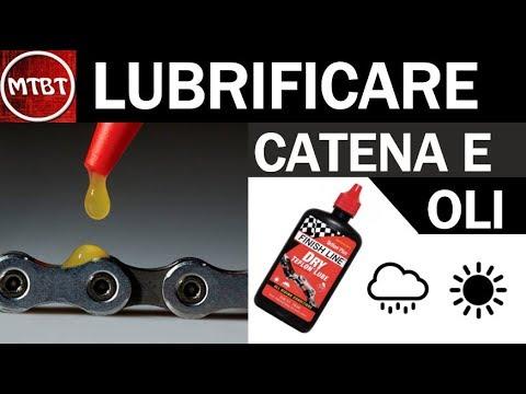 MTB pulire detergere e lubrificare la catena   tutorial olio per bagnato ed olio per asciutto wd40