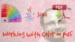 PDF box tutorial #3 | set color and page size in PDF using java
