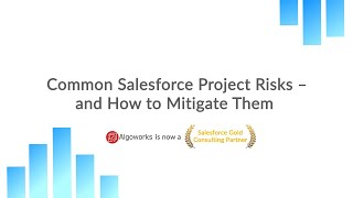 Common Salesforce Project Risks and How to Mitigate Them