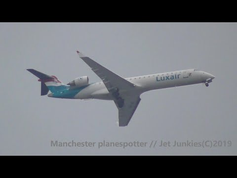 (HD) Luxair / Adria Bombardier CRJ-701ER S5-AAZ On JP462 Heading To Manchester Airport On 22/09/2019