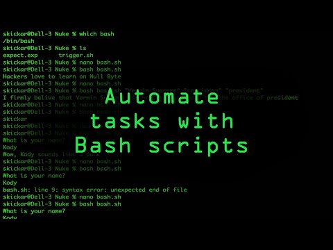 Write Your Own Bash Scripts for Automation [Tutorial]