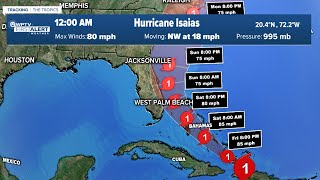Thursday 11 p.m. update - Tropical Storm Isaias