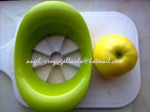 manzana y cortador de manzana.wmv