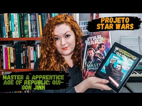 Projeto Star Wars - Master and Apprentice / Age of Republic Qui-Gon Jinn   Livros e Devaneios