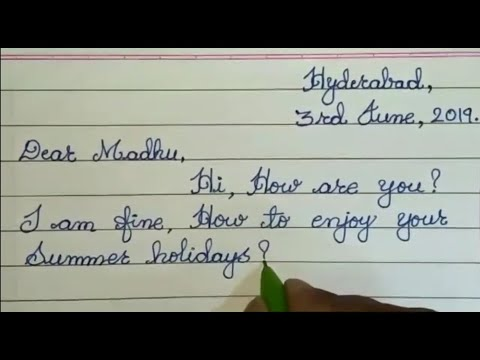 How To Write A Friendly Letter  //  Letter Writing In Cursive