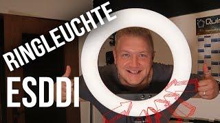 Startpaket YouTube Ringlicht und Stativ ESDDI 18 Zoll/48cm 100W Dimmbar LED Ringlicht