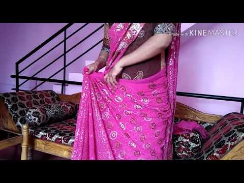 Fancy saree draping to look like slim   super viral videos