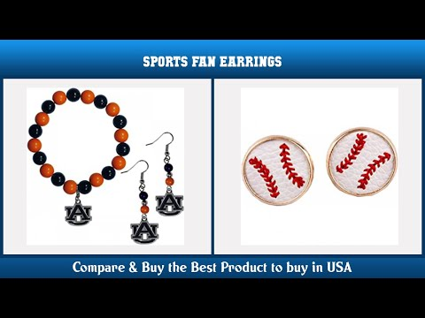 Top 10 Sports Fan Earrings to buy in USA 2021 | Price & Review