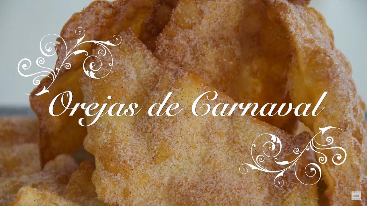 Receta de Orejas de Carnaval Crujientes y Caseras | Como hacer Orejas de Carnaval | Receta Orejas