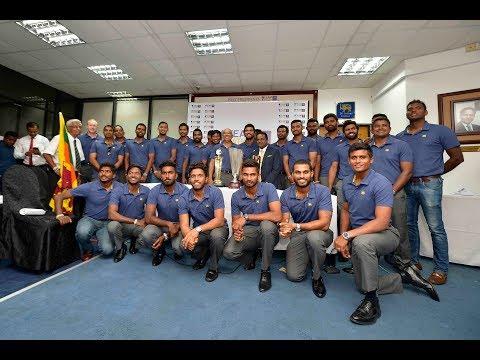 Sri Lanka Team arrives back from Bangladesh