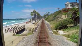 Amtrak Pacific Surfliner Time-Lapse from San Diego to Los Angeles