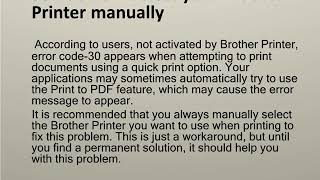 Steps for  Brother Printer not activated error code 30