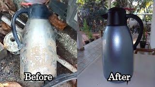 Steel Hot Water Jug Restoration | Steel Hot Water Jug new look